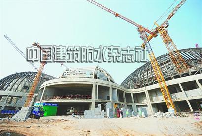 济南省会文化艺术中心大剧院钢结构封顶
